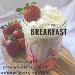 Overnight strawberry and cream oats recipe