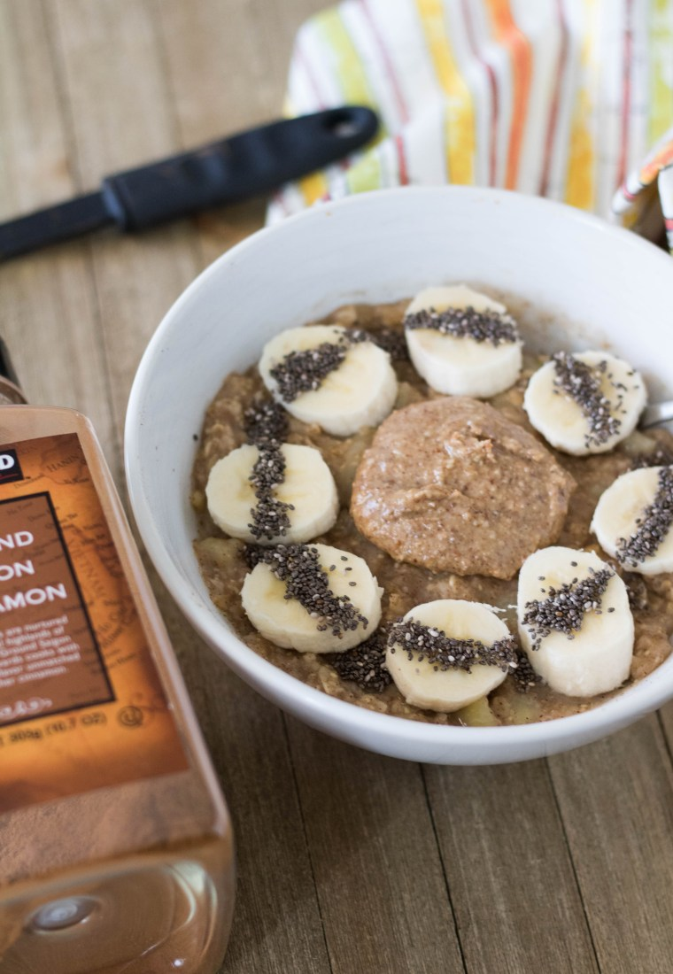 No sugar added breakfast banana oatmeal
