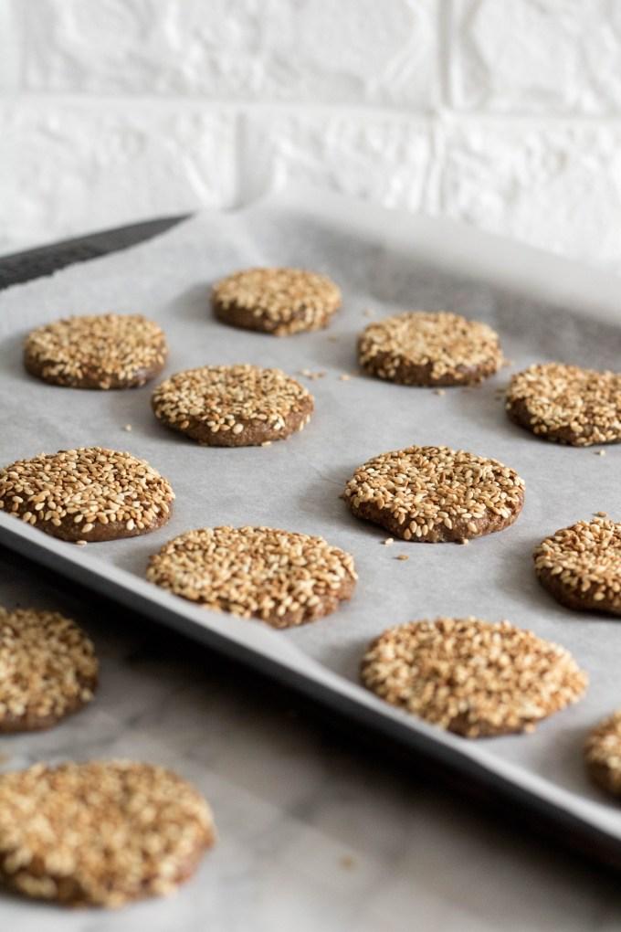 sesame seed tahini cookie dough