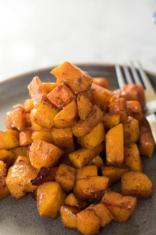 honey roasted butternut squash for two