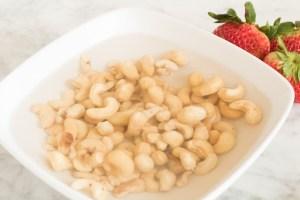 Cashews soaking