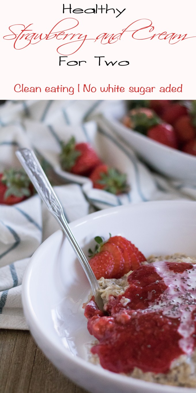 Strawberries and cream for two with no added white sugar
