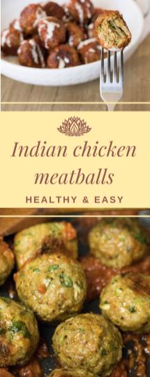 Baked Indian Chicken meatballs