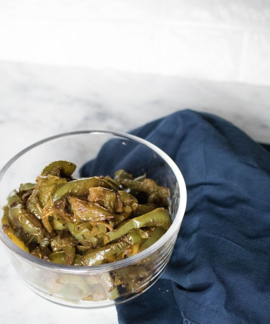Caramelized bell peppers