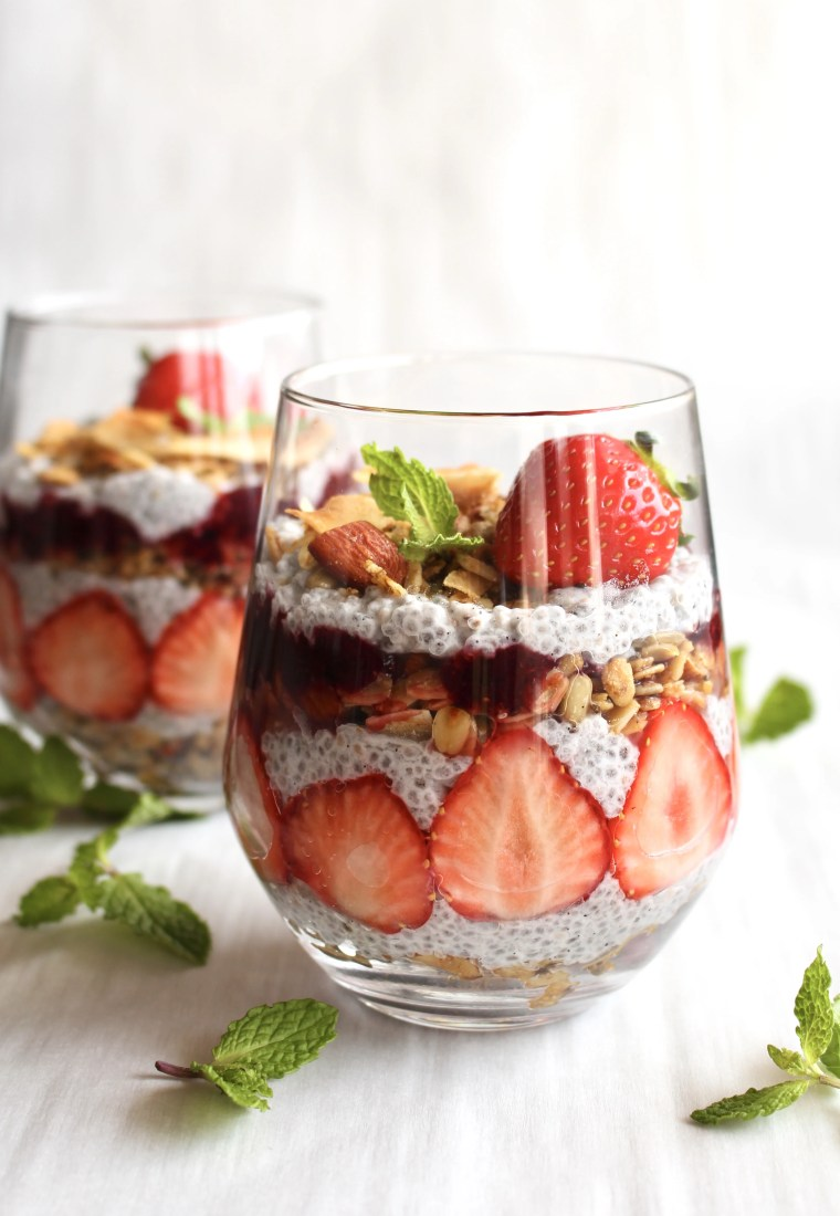 Berry Chia Seed parfait