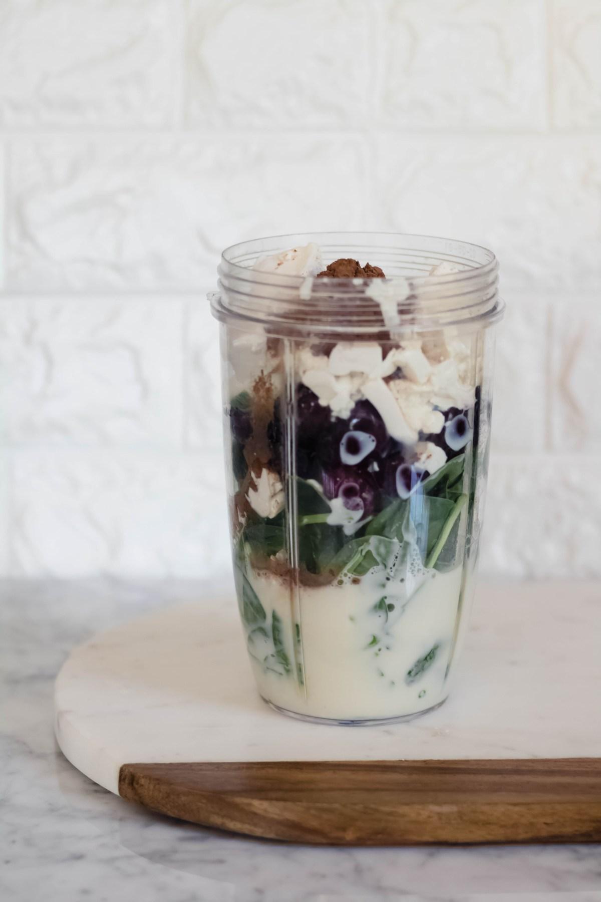 Vegan High protein chocolate smoothie