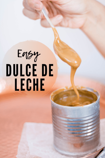 Easy dulce de leche recipe for Pinterest