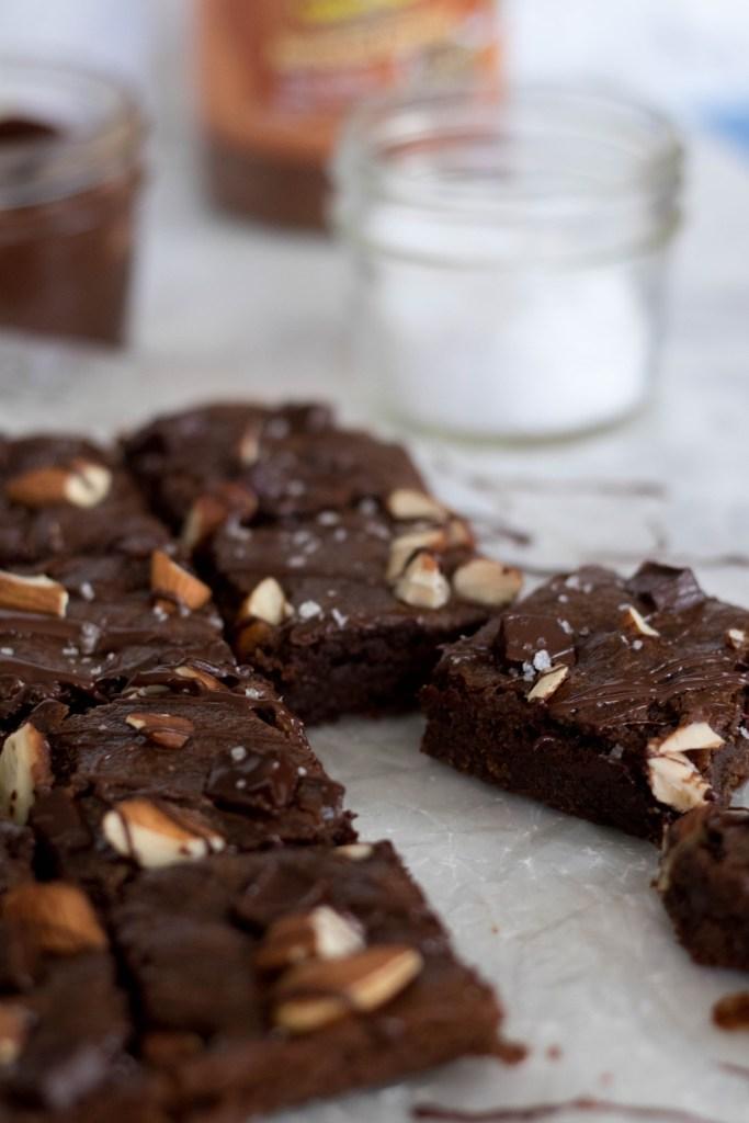Healthy Vegan Double chocolate Brownies