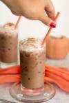 Iced Pumpkin Spice hot chocolate