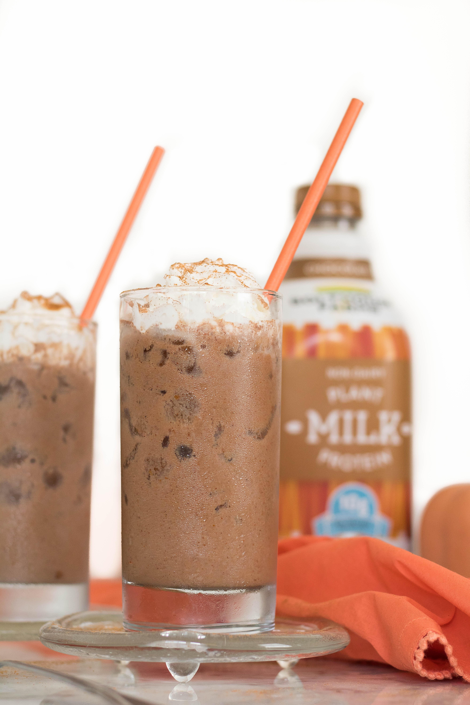Iced Vegan Pumpkin spice hot chocolate + Review