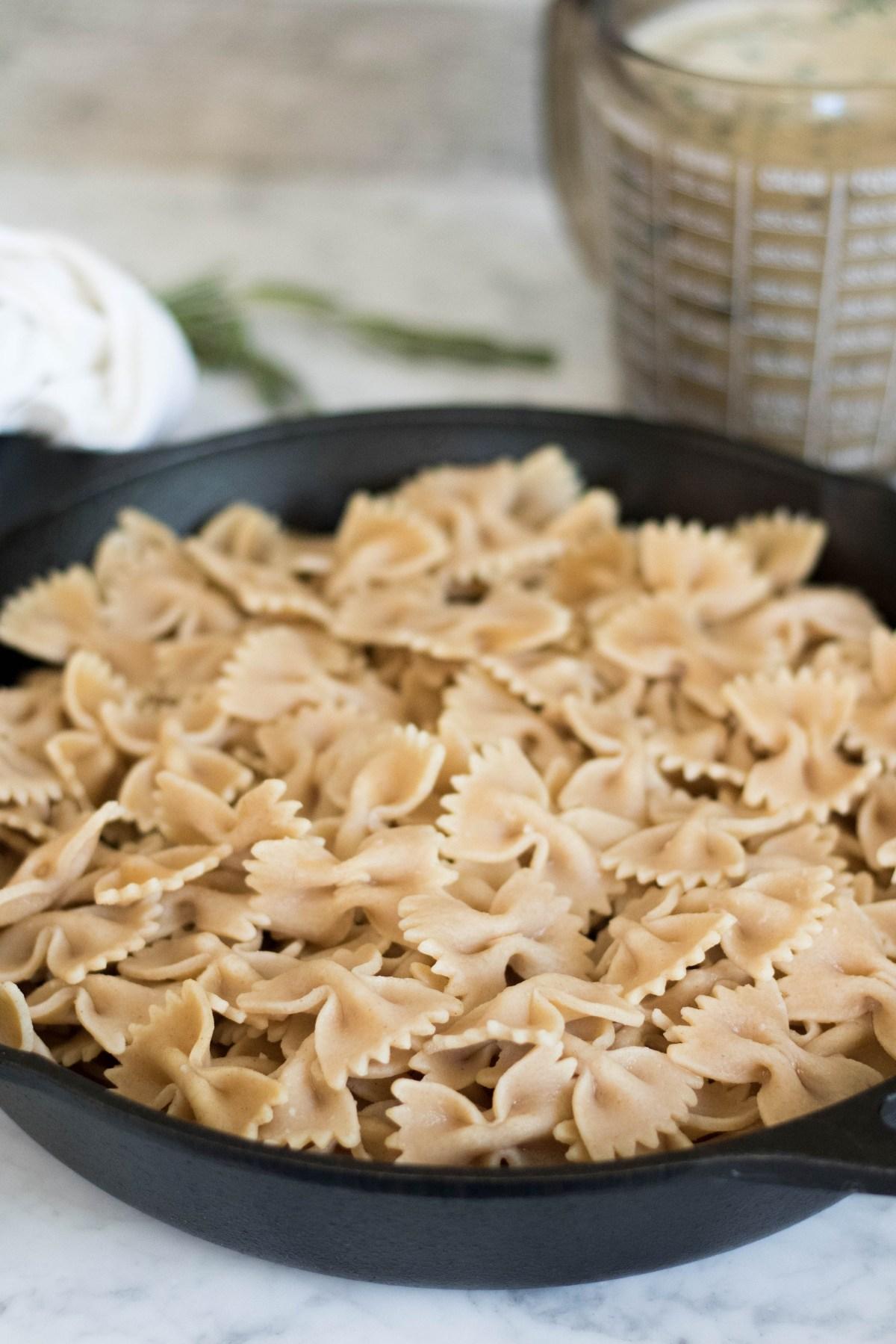 Vegan Kale and Mushroom pasta