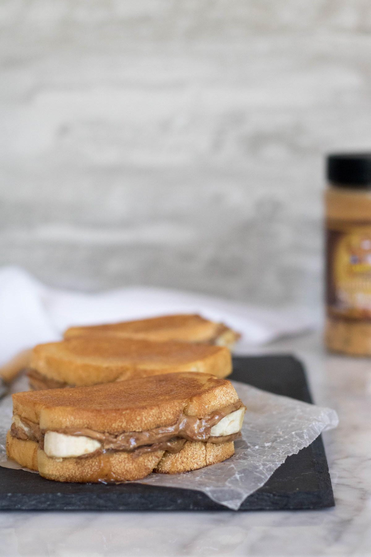 perfect trio of grilled banana sandwiches