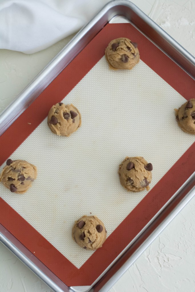 cookie dough before going into the oven