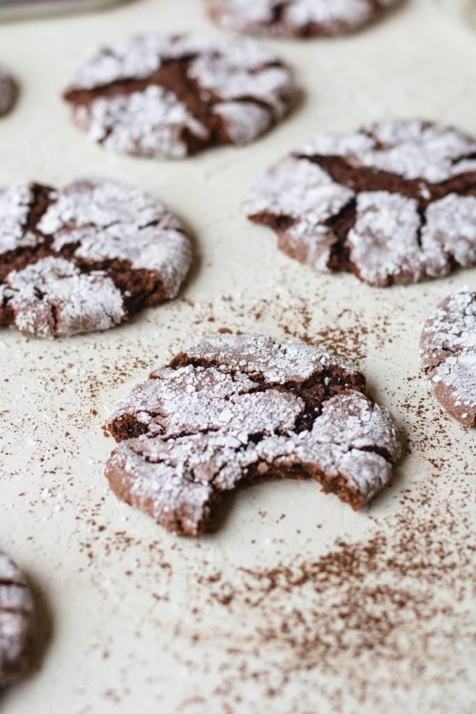 Chocolate cake mix crinkle cookies