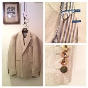 ナチュラル新郎衣装|リネン素材|オフホワイト