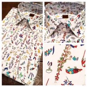 オーダーシャツシャツ,リバティ鳥柄