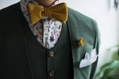 ノーカラースーツタイプのカジュアルな新郎衣装|lifestyleorder