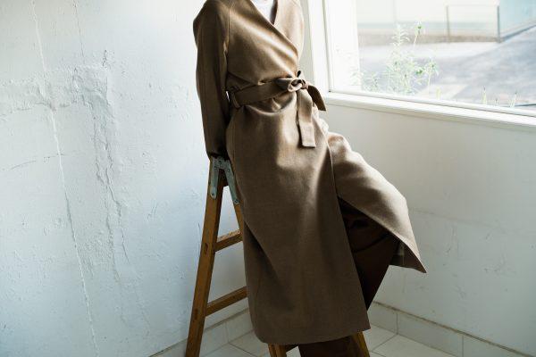ガウンコートスタイルのレディースオーダーコート|lifestyleorder