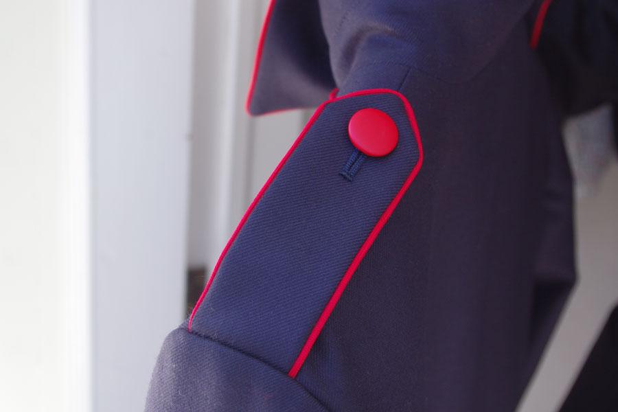 レディースオーダーコート,肩章パイピング