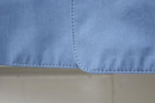 ステンカラーコート|裾口ラウンド