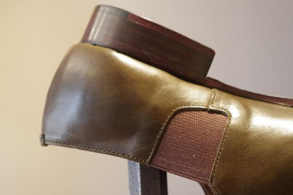 スリッポン靴|グリーン