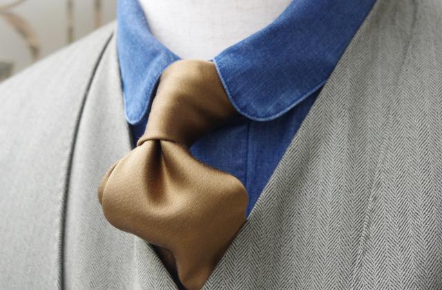 メンズノーカラースーツ|グリーン
