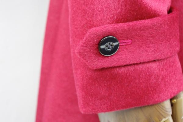 オーダーメイドコート|カシミヤ袖口タブ