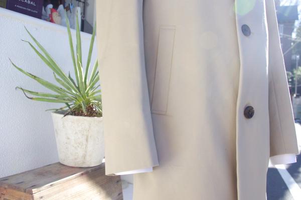 オーダーステンカラーコート|腰ハコポケット