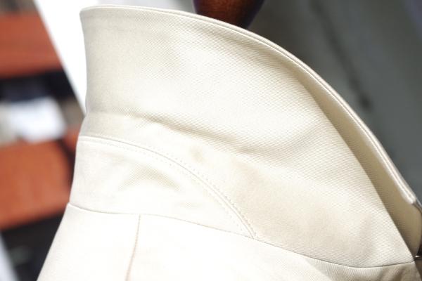 オーダーステンカラーコート|衿サイドスタイル