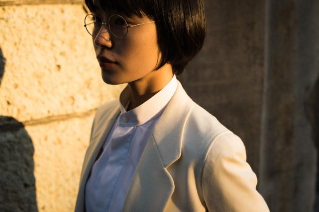 ホワイト|レディースジャケットパンツスタイル