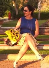 yellow pleat skirt2