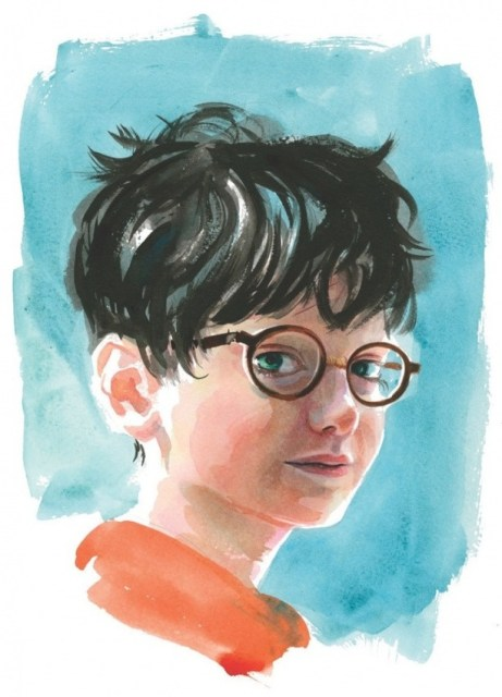 Illustrated-Harry-Potter-Characters-Harry