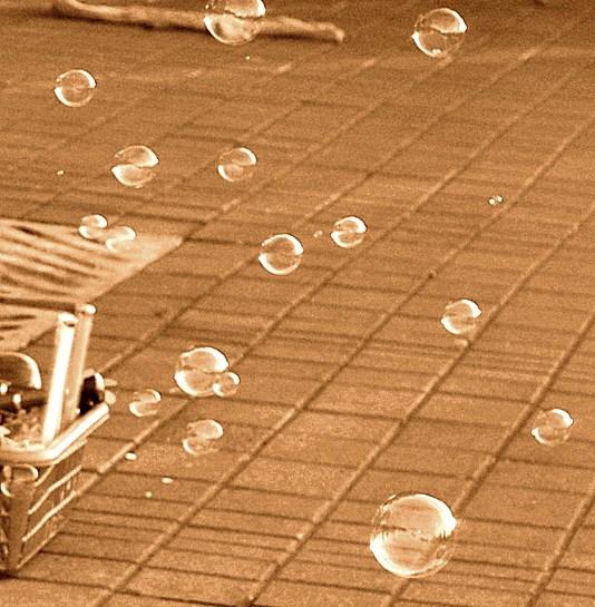Bubbles Sepia