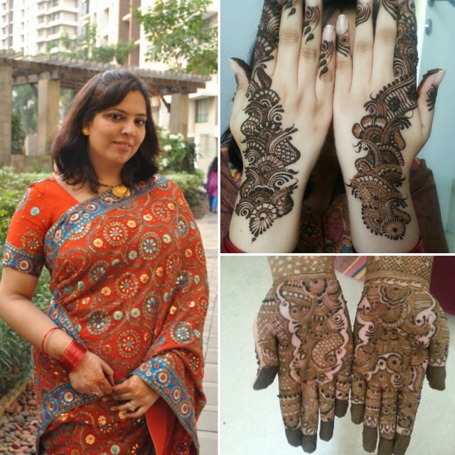 My Karva Chauth OOTD and Mehndi 2015
