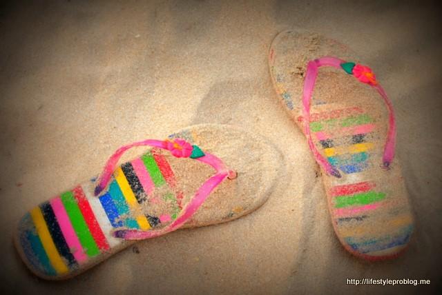 beach flipflops