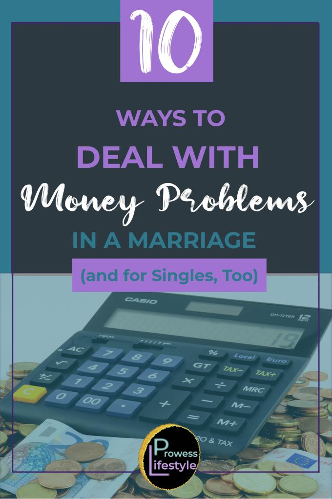 Money problems in a marriage pinterest image