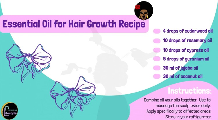 Geranium and cypress essential oils hair growth recipe