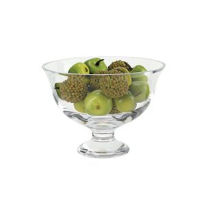 Badash Crystal Monica European Mouth Blown Medium Pedestal or Revere Lead Free Crystal Fruit Bowl - SR709