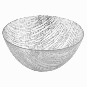 Badash Crystal Silver Lines Handcrafted Glass Bowl 11 inch KM710S