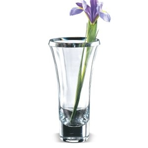 Badash Crystal Trillion 11 inch European Mouth Blown Thick Walled Beveled Edge Lead Free Crystal Vase - K2209