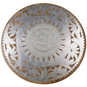 CBK Inspired Home Lazy Susan with Silver Inlay - 131772
