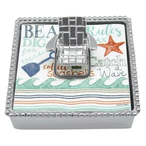 Mariposa Beach Chair Beaded Napkin Box