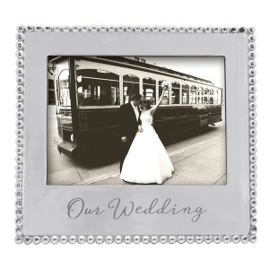 Mariposa Our Wedding Beaded 5x7 Frame