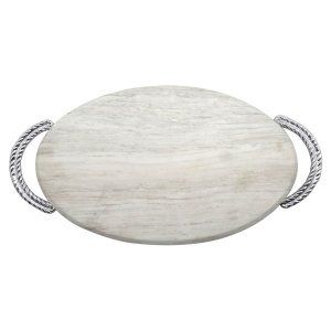 Mariposa Rope Marble Serving Board