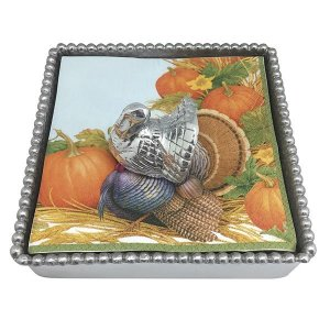 Mariposa Turkey Beaded Napkin Box