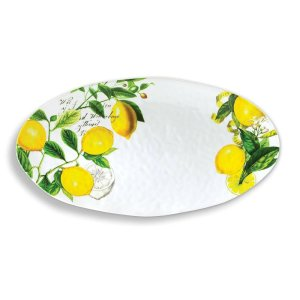 Michel Design Works Lemon Basil Oval Platter SWP08