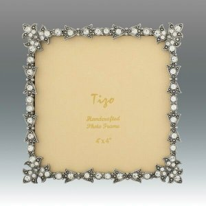 Tizo Design Jeweltone Frame with Crystals 4x4 RS116044