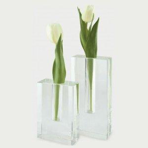 Tizo Design Rectangular Bud Crystal Glass Vase XY103VAS XY104VAS