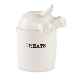 "Mud Pie Dog <a href=""https://lifestylesgiftware.com/product/dog-tail-treat-canister-by-mud-pie/"" target=""_blank"" rel=""noopener noreferrer"">Treat Canister</a>"