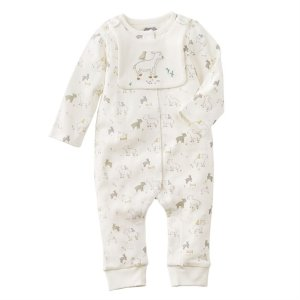 Lamb Sleeper and Bib Set